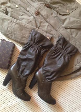 Стильные осенние кожаные сапоги!