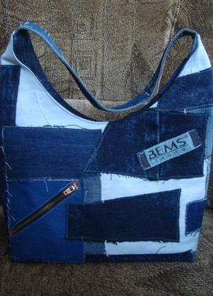 Джинсова сумка на весну bems jeans ручна робота