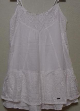 Блуза белая туника майка хлопок размер xs abercrombie.