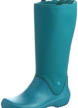 Резиновые сапоги crocs rainfloe boot раз. w7 и w11