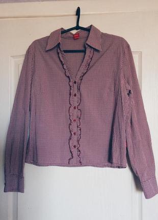 Клетчатая рубашка с отделкой esprit