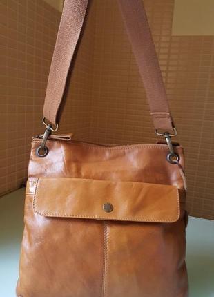 Женская сумка планшетка fat face 100 %кожа