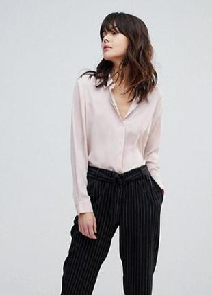 Сатиновая блузка/рубашка h&m