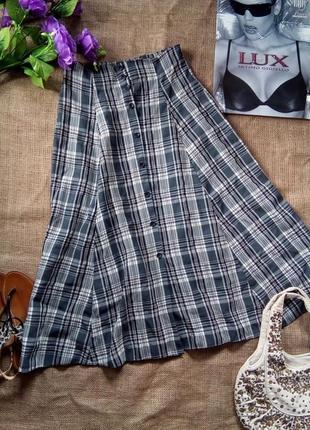 ✨трендовая юбка в клетку макси, застежка спереди, вискоза, британия