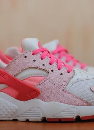 Розовые женские кроссовки nike air huarache, найк хуарачи. 38.5 размер. оригинал