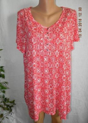 Легкая натуральная блуза большого размера