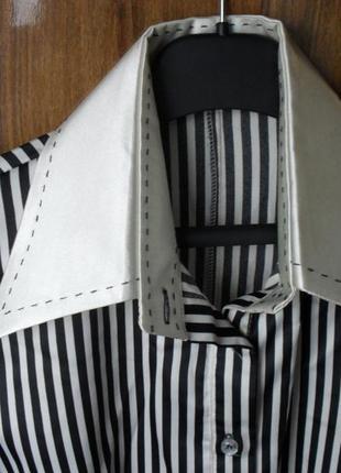 Классическая блуза рубашка в полоску