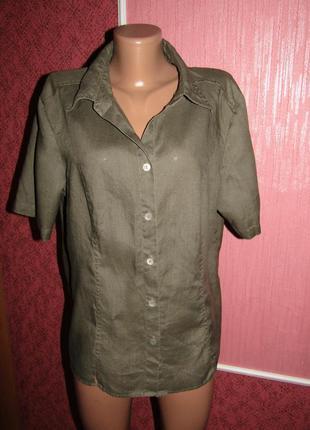 Рубашка р-р 16 лён бренд fabiani