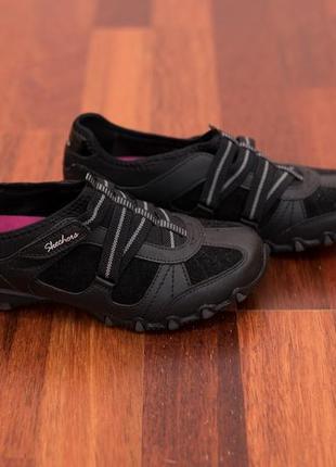 Кроссовки   skechers active  оригинал на липучках 37 размер черные