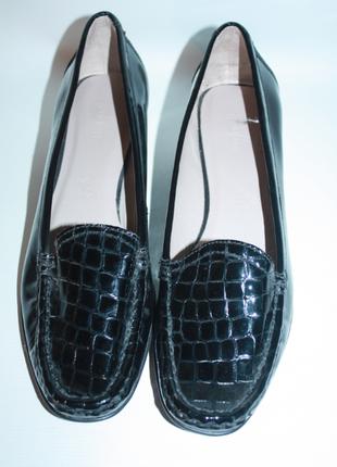 Лоферы, мокасины, туфли кожаные footglove натуральная кожа 100% черные новые сток (к027)