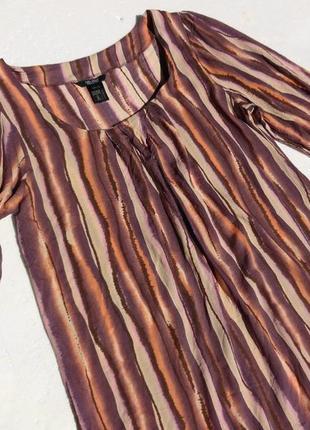 Sara kelly. полосатое платье из вискозы. м размер.