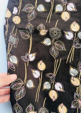 Класная миди юбка в цветочный принт