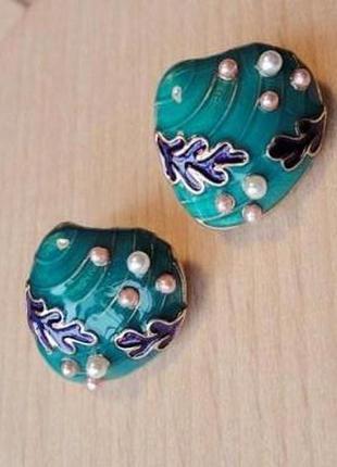 Серьги-гвоздики ракушки*