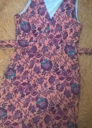 Длинное платье на запах new look  размер xs