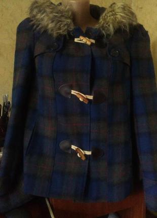 Дафлкот,короткое пальто в клетку.12.распродажа.