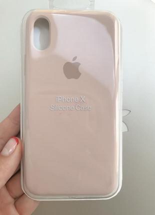 Силиконовый чехол бампер silicone case iphone х