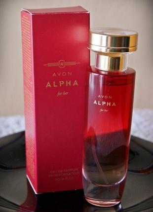 Женская парфюмерная вода avon alpha for her, 50 мл
