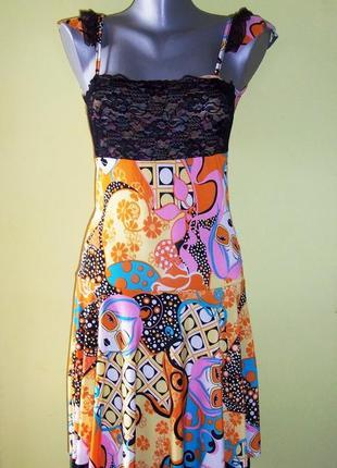 Летнее яркое платье сарафан