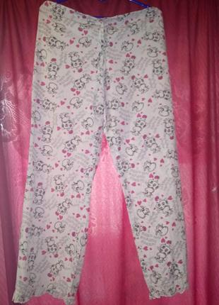 Женские домашние хлопковые пижамныепринтованные брюки 10
