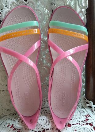 Босоножки крокс crocs isabella strappy sandals размер w10