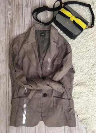 Льняной жакет пиджак mexx