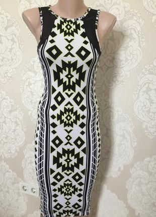 Платье миди в орнамент/ сарафан миди