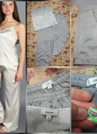 Фирменная, натуральная, шёлковая пижама, 100% шёлк