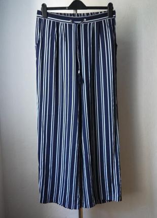 Широкие вискозные летние  брюки