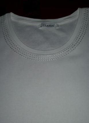 Футболка белая marks&spencer, размер 16