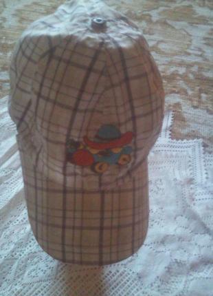 Хлопковая кепка на 2-3 года