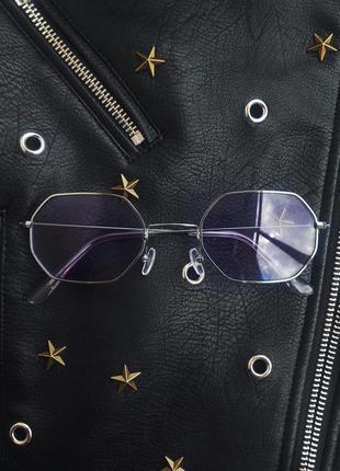 Солнцезащитные очки восьмиграники имиджевые ретро винтаж
