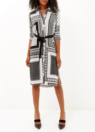 Потрясающее платье рубашка миди большого размера