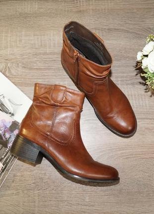 (38р./25см) footglove! кожа! комфортные ботинки, полусапожки на удобном каблуке