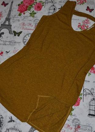 Меланжевая туника-красивая спинка tu 16 размер