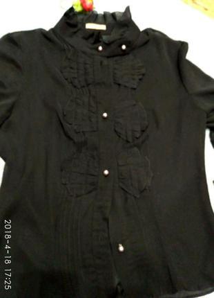 Шикарная дорогая шифоновая блуза, блузка, рубашка dolcedonna р.8, 10
