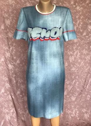 Стильное коктейльное платье для вечеринок fendi италия оригинал мех норки 38