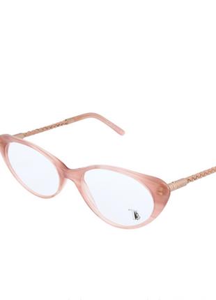 Новая, имиджевая оправа премиум бренда tod's очки. пудра/кошачий глаз/кожа. италия