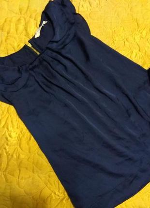 Блуза тёмно-синяя