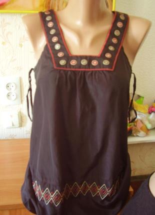 Фирменая шёлковая маечка на 44-46 размер...до 80 см в груди