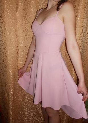 Платье нежно-розовое boohoo
