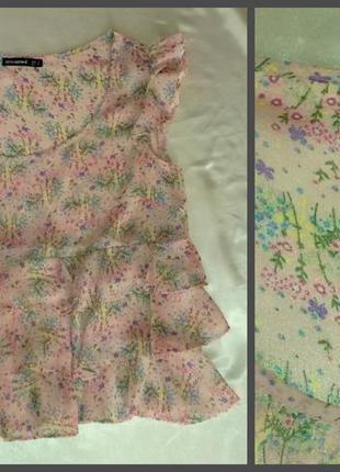 Блуза с рюшами