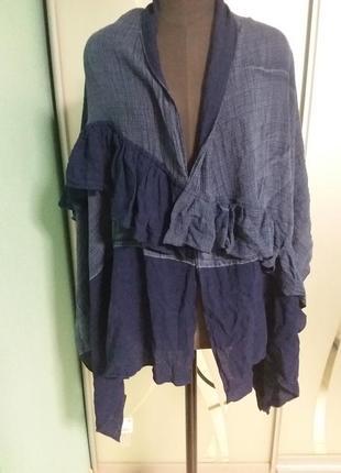 Оригинальный палантин, шарф, накидка  в модной джинсовом цвете