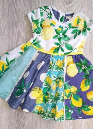 Очень красивое платьице next для девочки 1-1,5 года
