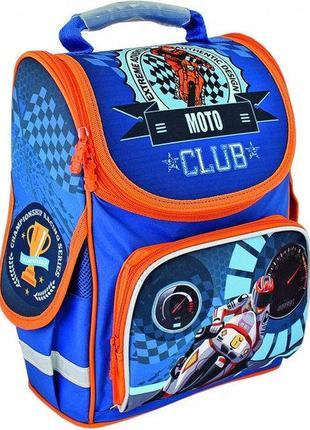 """Ортопедический ранец школьный каркасный,"""" moto club"""" cf85828"""