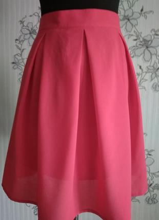 Новая красная шифоновая лёгкая юбка на подкладке в складку, разные размеры и цвета.