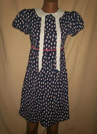 Платье с кошечками la redoute р-р6,