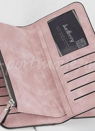 Женский замшевый кошелек baellerry forever светло-розовый3 фото