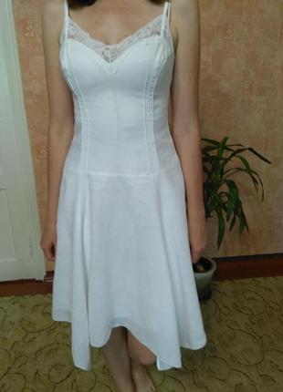 Женское летнее льняное платье/сарафан sinequanone