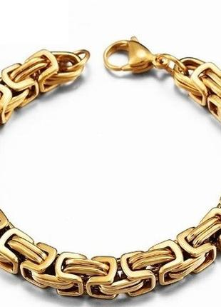 Мужской браслет steel rage gold