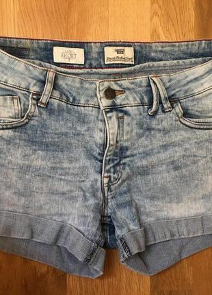 Шорты мини миди летние джинсовые h&m